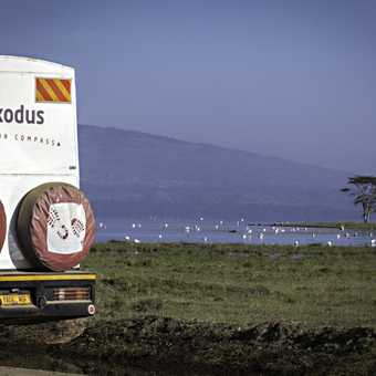 Exodus truck at lake nakuru