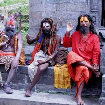 Sadhus at Pashupatinath Kathmandu
