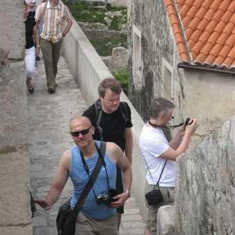 Boys on the wall at Korcula