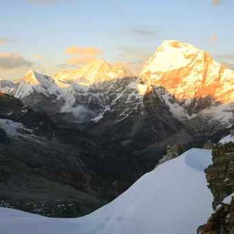Sunset from high camp