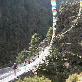 Final bridge before the climb to Namche