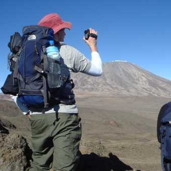 Looking across The Saddle to Kilimanjaro