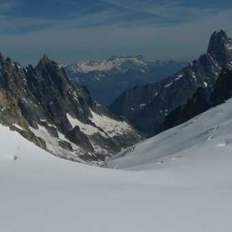 Taking in the views heading up to Aigulle Du Midi