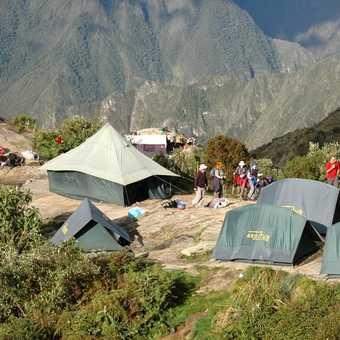 Camp before descent to Machu Picchu