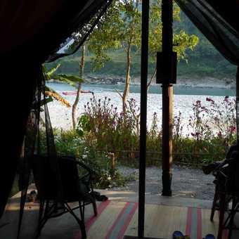 River rafting camp