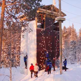 Ice/rock climbing at Basecamp Oulanka