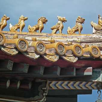 detail, Beijing lamasery