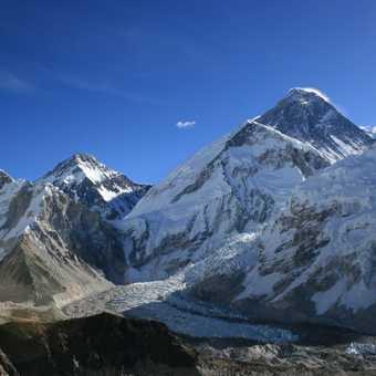 Everest and Khumbu Ice Fall  from Kala Pattar