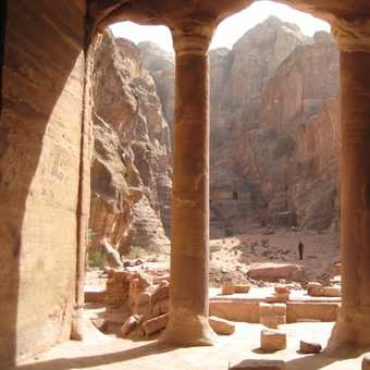 View from The Garden Hall, Petra