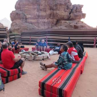 Our camp in the Wadi Rum