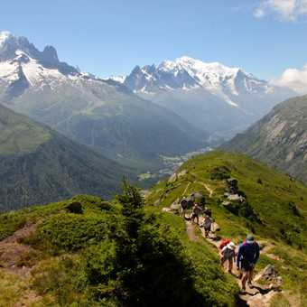 The view towards Mont Blanc