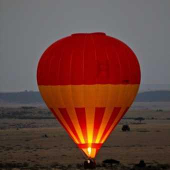 Balooning over Masai