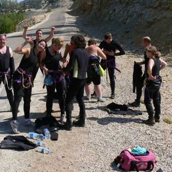 Preparing to canyon