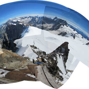 Neil Pittaway Panoramic view from the Aguille Du Midi