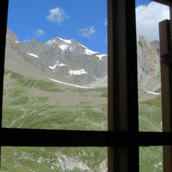 Neil Pittaway window view from a remote mountain museum