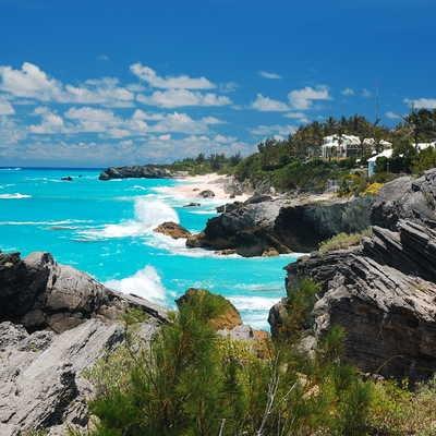 Coastal view in Bermuda