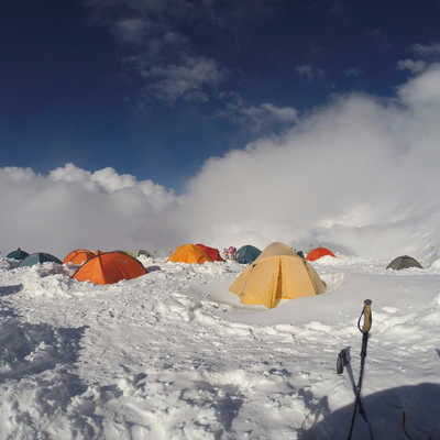 High altitude camp, Lenin Peak