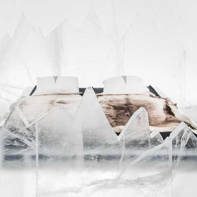 Cold accommodation at the Icehotel