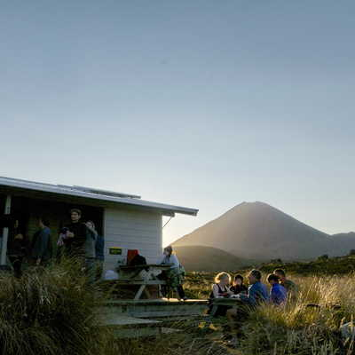 TLZ hut in Tongariro