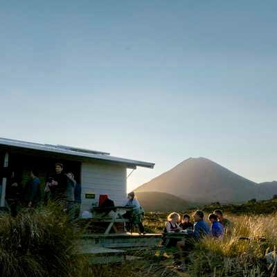 TLZ hut in Tongariro