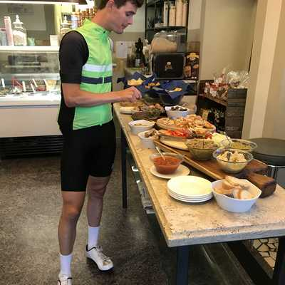 Mid ride snack Tuscan style