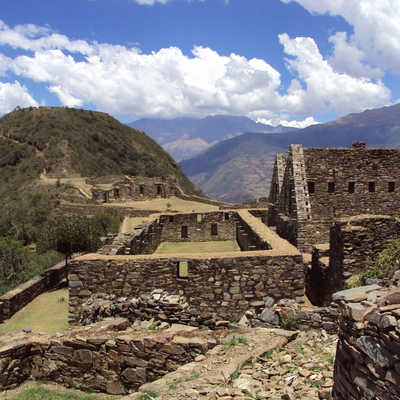 Lost city of Choquequirao, Andes, Peru
