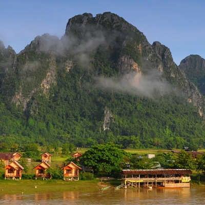 View of VangVieng, Laos