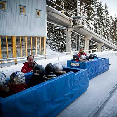 Bob-rafts ready to go, Lillehammer Olympic Park