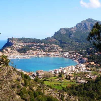 Views to Port de Soller, Mallorca
