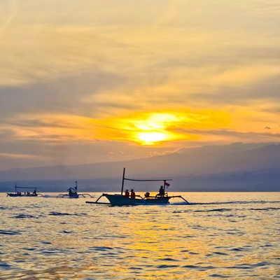Lovina Beach sunrise