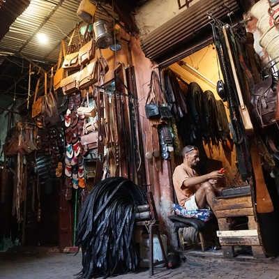 Leather shop, Marrakech Souq