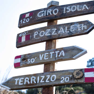 Markers in the Cinque Terre region
