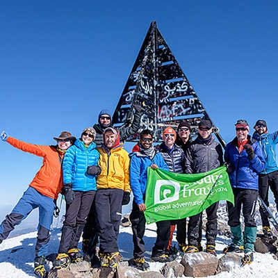 Mt. Toubkal summit in Winter