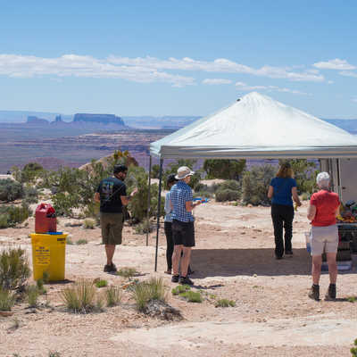 Lunch with the view of Monument Valley