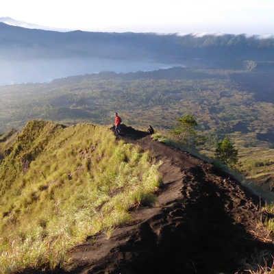 Hiking on Mt. Batur