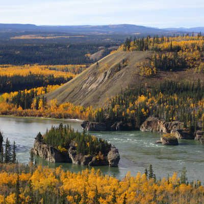 Yukon river in Fall