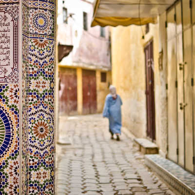 The streets of old Meknes
