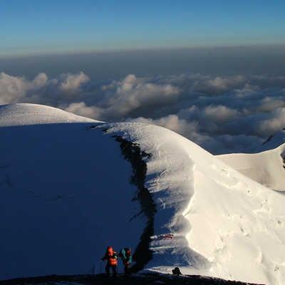 climbing Lenin Peak