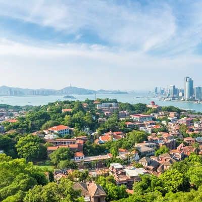 Aerial view of Xiamen Gulangyu island