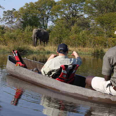 Mokoro canoe trip in the eastern Okavango Delta