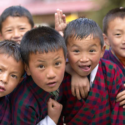 Children in Bhutan