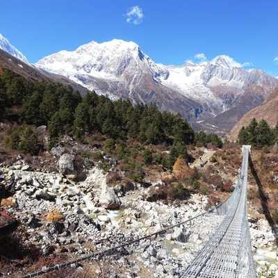 Ascending from Lho to Samagaon, Manaslu Circuit, Nepal