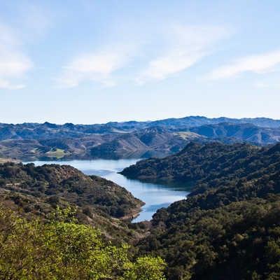 Lake Casitas in the mountains, Ventura County, California