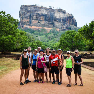 Exodus cycling group at Sigiriya Rock Fortress (Lion Rock), Sri Lanka