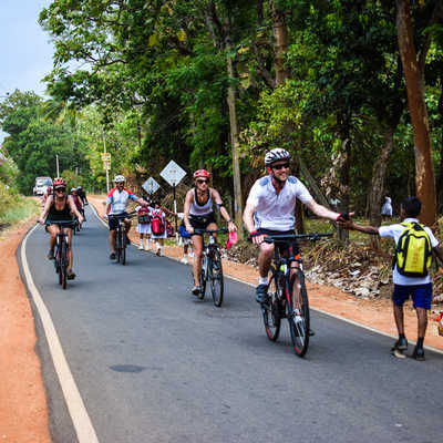Cycling around Dambulla, Sri Lanka