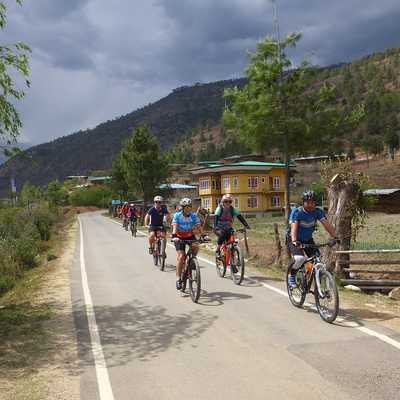 Exodus group, Cycling in Bhutan