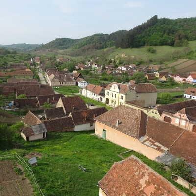 View of Copsa Mare Village