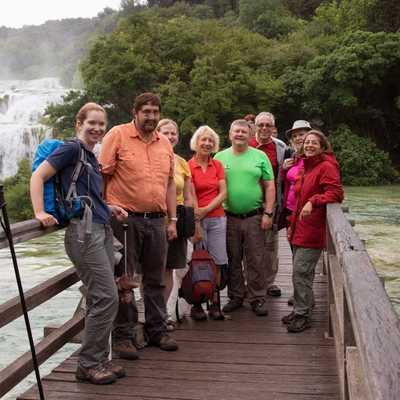 W07CR - walking group at Krka, Croatia
