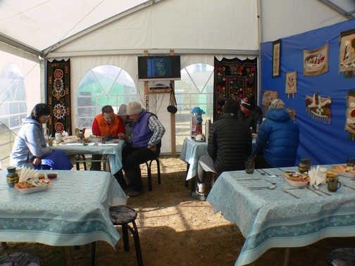 Dining room at basecamp