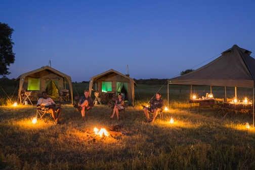 Wild camping, Botswana